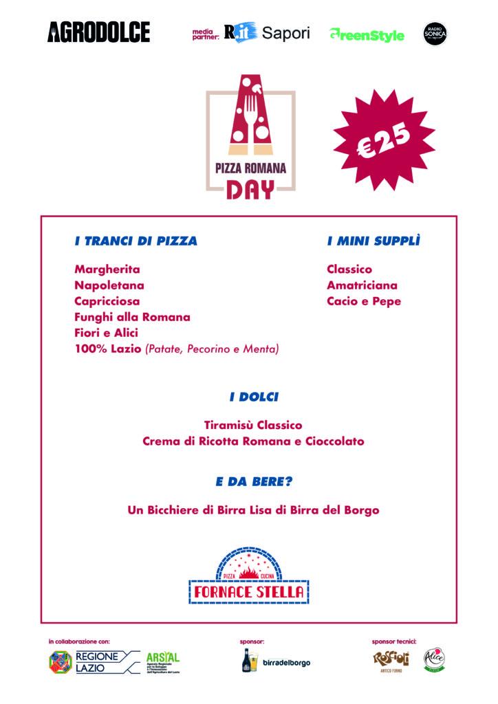 Menu Pizza Romana Day da Fornace Stella